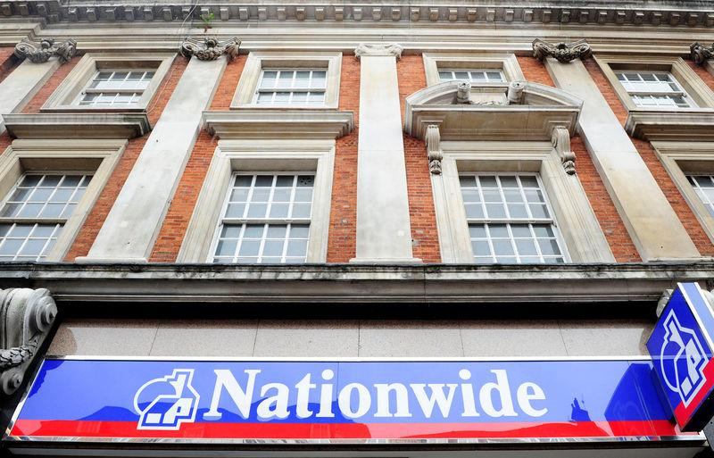 A general view of a Nationwide building society branch in London