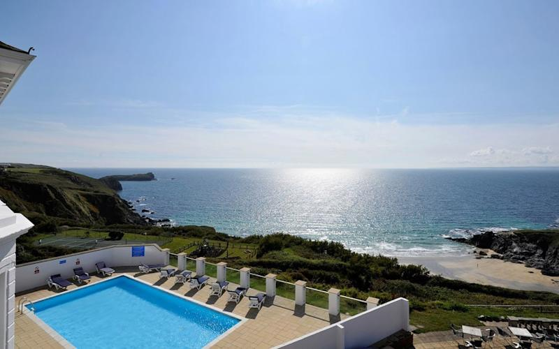 Polurrian on The Lizard, Cornwall - one of Britain's best hotels with outdoor pools
