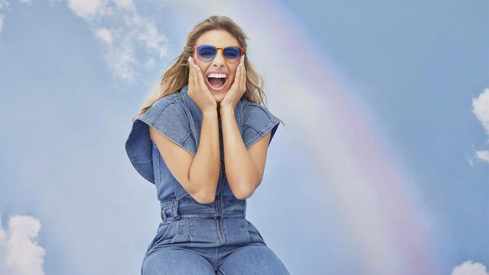 EyeBuyDirect partnered with Lele Pons to create new rainbow-colored frames this year.