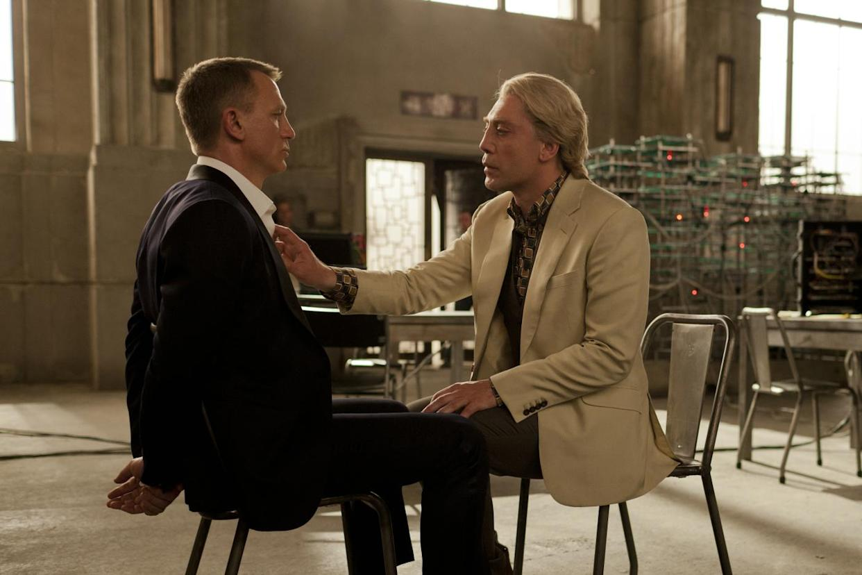 Daniel Craig and Javier Bardem in Skyfall (MGM/EON/Sony Pictures)