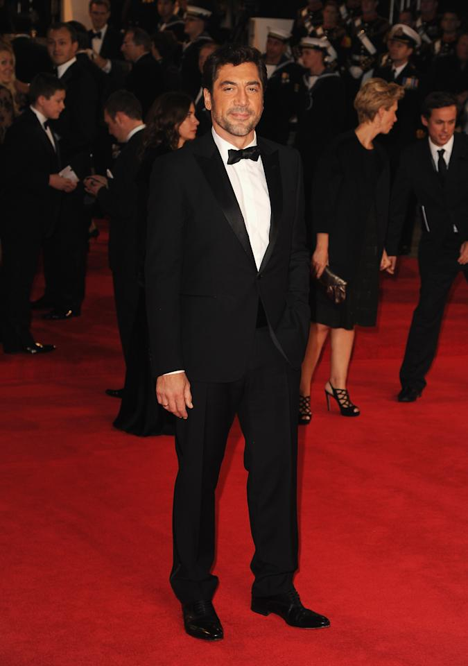 LONDON, ENGLAND - OCTOBER 23:  Javier Bardem attends the Royal World Premiere of 'Skyfall' at the Royal Albert Hall on October 23, 2012 in London, England.  (Photo by Eamonn McCormack/Getty Images)