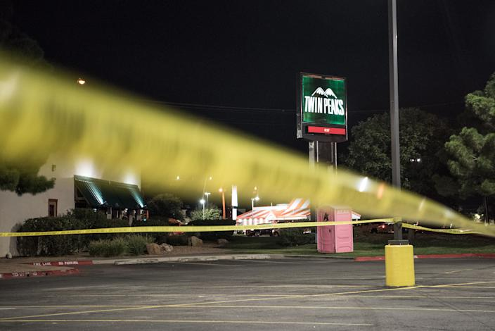 Police tape marks the scene outside a Twin Peaks restaurant after multiple people were shot on August 31, 2019 in Odessa, Texas. (Photo: Cengiz Yar/Getty Images)