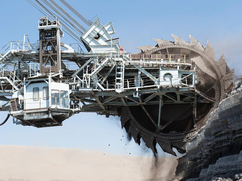 Coal mining rig in Turkey. Fossil fuel production levels are now higher than ever, UN report finds: Getty
