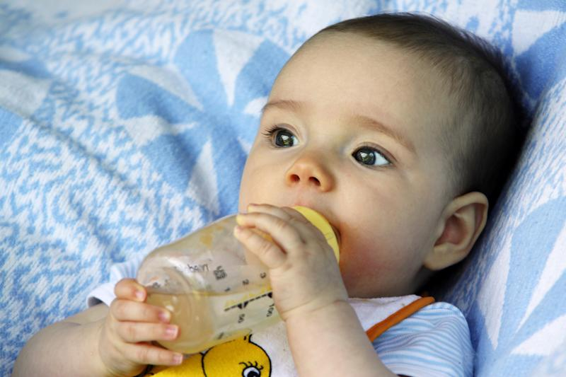 Germany - a drinking baby - 06.05.2011 (Photo by Anke Thomass/ullstein bild via Getty Images)