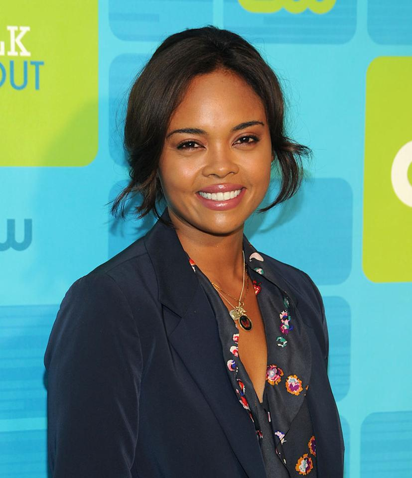 """<a href=""""/sharon-leal/contributor/33928"""">Sharon Leal</a> (""""<a href=""""/hellcats/show/46554"""">Hellcats</a>"""") attends the 2010 The CW Upfront at Madison Square Garden on May 20, 2010 in New York City."""