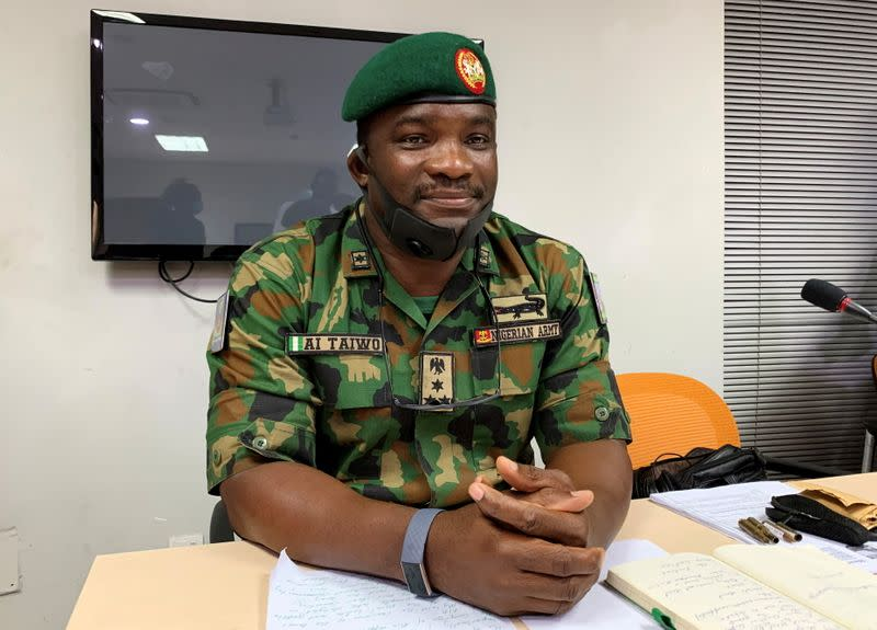 Brigadier General Ahmed Taiwo, attends a judicial panel in Lagos