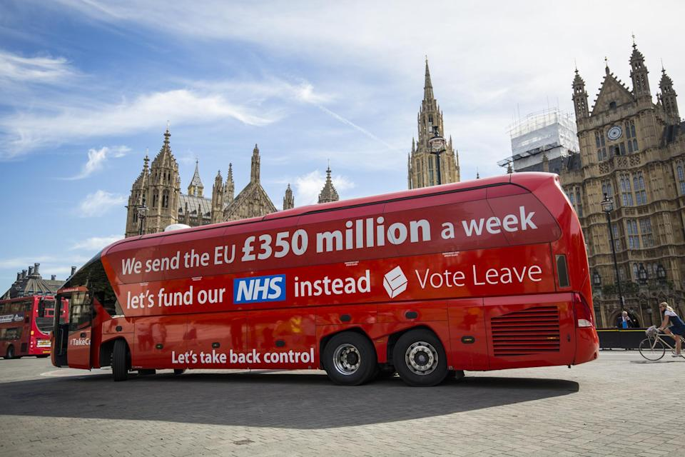 Dominic Cummings claimed the controversial Brexit bus slogan was deliberately provocative
