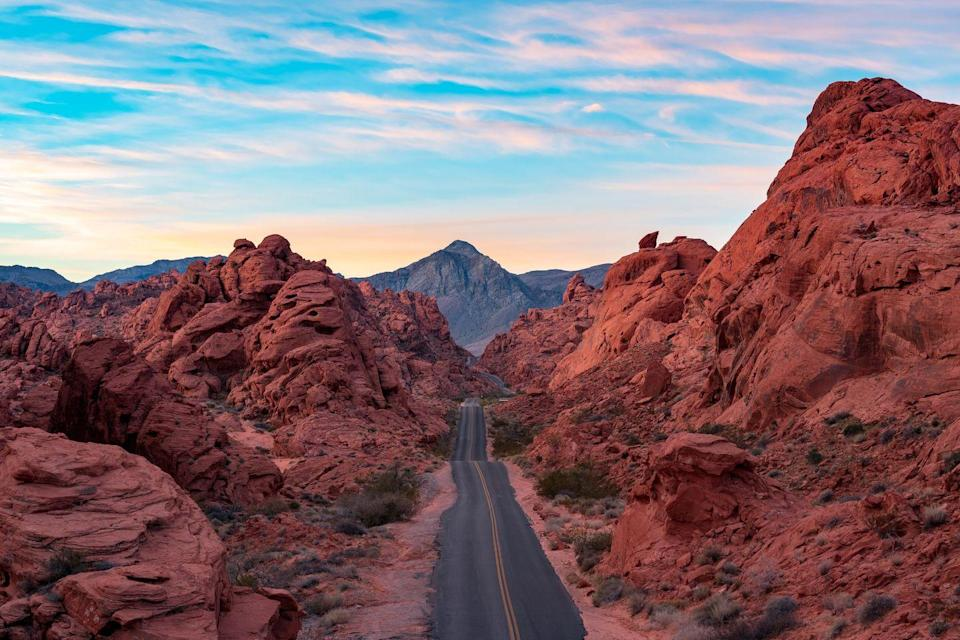 <p>The firey red mountains that line the roads in Nevada's Valley of Fire prove that the stunning site lives up to its descriptive name.</p>