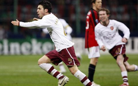 """12:23PM History repeated Arsenal and AC Milan have enjoyed a couple of thrilling knockout ties in the last decade. First there was 2008 when Arsenal knocked out the Champions League holders with a 2-0 last-16 win at San Siro before Milan exacted revenge with a 4-3 aggregate win at the same stage four years later. In that 2012 meeting, Milan won the first leg 4-0 before Arsenal so nearly pulled off a miracle comeback by winning the second leg 3-0. The first leg of this Europa League tie will be played on Thursday March 8 at San Siro, with the return a week later on March 15 at the Emirates. Cesc Fabregas celebrates scoring for Arsenal against AC Milan in 2008 Credit: AFP 12:18PM The draw in full 12:17PM So it's AC Milan vs Arsenal! The first leg will be played at San Siro on Thursday March 8. That's a great draw. Eric Abidal picks out Milan vs Arsenal as the pick of the draw. 12:16PM Dortmund will play... not Arsenal. Dortmund vs RB Salzburg 12:15PM Arsenal and Dortmund still in the hat Sporting Lisbon vs Viktoria Plzen 12:15PM Just three pairings left now Marseille vs Athletic Bilbao 12:14PM And the other Moscow club is out CSKA Moscow vs Lyon 12:13PM Atletico are out... ...and they will face: Lokomotiv Moscow. Atletico vs Lokomotiv Moscow 12:12PM Next RB Leipzig vs Zenit 12:11PM First up Lazio vs Dynamo Kiev 12:11PM Pleasantries over We're about to get under way. The only rules are that the team drawn first will play the first leg at home, and teams from Russia and Ukraine can't play each other. Uefa must be praying Zenit and one of the Moscow clubs don't reach the final. 12:07PM The draw will be made by... ...Eric Abidal, who spent three years at Lyon where the Europa League final will be held this season. 12:04PM A sombre start The draw starts with our host (who I believe is the former CNN journalist and now Uefa's head of press Pedro Pinto) saying that Uefa """"strongly condemns the deplorable acts of violence"""" that took place in Bilbao last night. 11:56AM Nearly t"""
