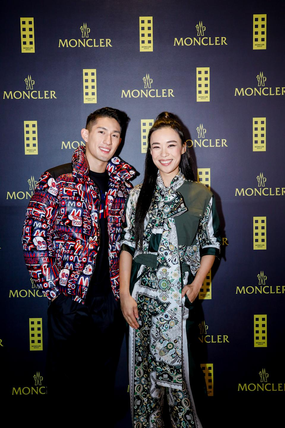 Ayden Sng, Rebecca Lim at Moncler Launch. (PHOTO: Moncler)