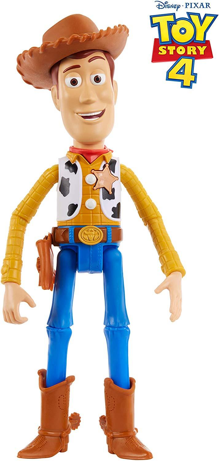 "Toy Story 4 Talking Woody Figure, 7"". Image via Amazon."