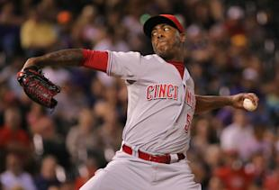 Aroldis Chapman has 26 saves for the Reds. (Getty Images)