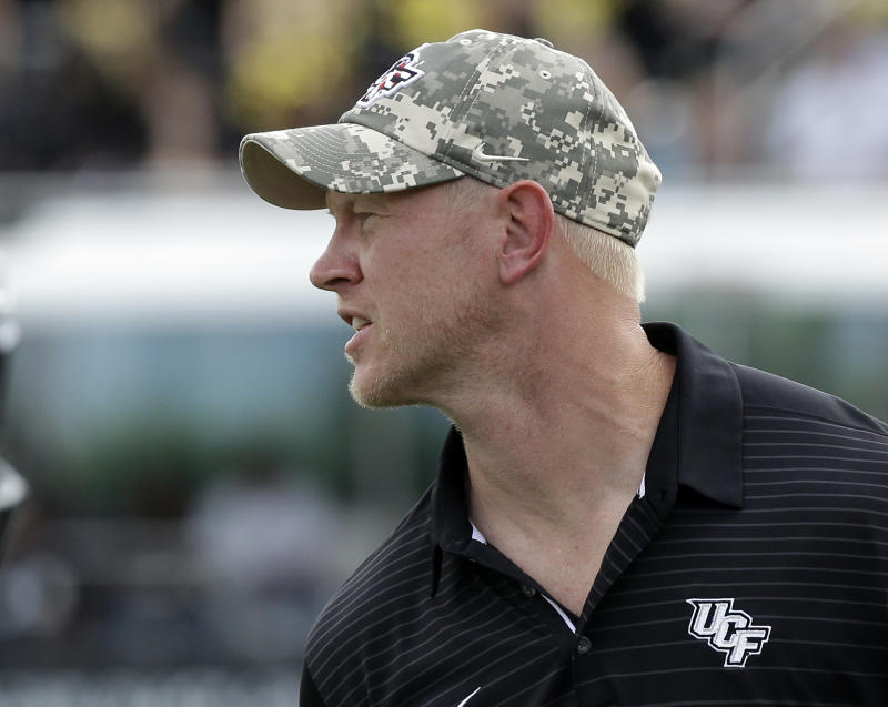 UCF's Scott Frost, a Nebraska legend, is expected to be a top target for the Huskers' head coach opening. (AP)