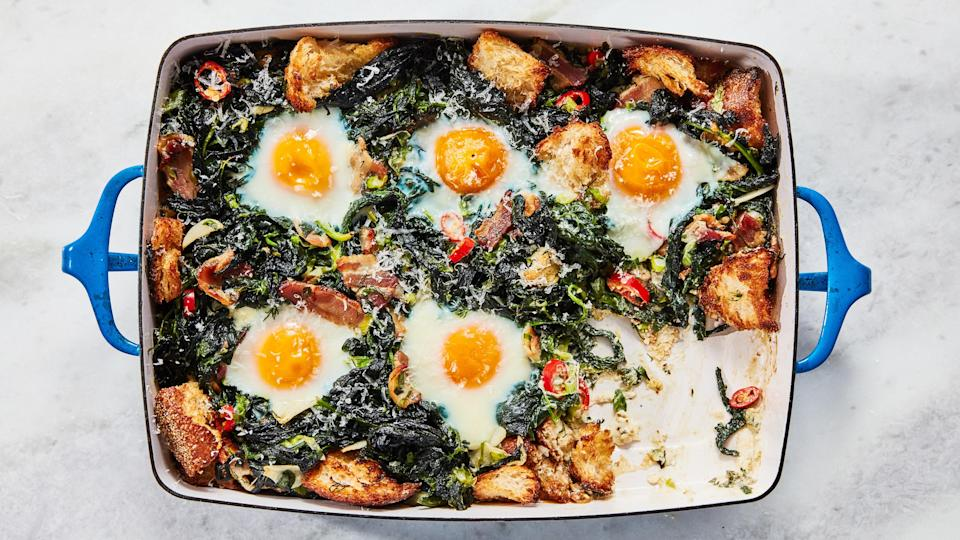 "<a href=""https://www.bonappetit.com/recipe/greens-eggs-and-ham?mbid=synd_yahoo_rss"" rel=""nofollow noopener"" target=""_blank"" data-ylk=""slk:See recipe."" class=""link rapid-noclick-resp"">See recipe.</a>"