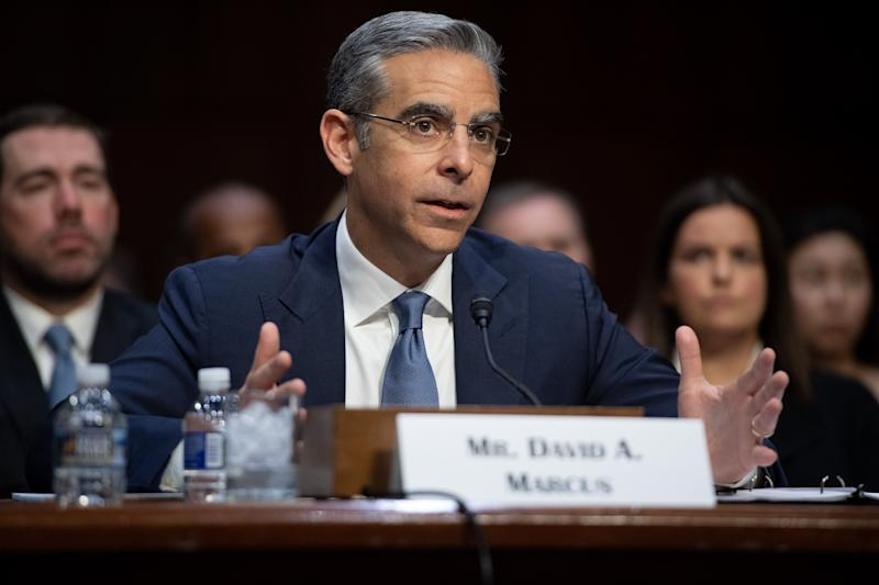 David Marcus, Head of Calibra at Facebook, testifies about Facebook's proposed digital currency called Libra, during a Senate Banking, House and Urban Affairs Committee hearing on Capitol Hill in Washington, DC, July 16, 2019. (Photo by SAUL LOEB / AFP) (Photo credit should read SAUL LOEB/AFP/Getty Images)