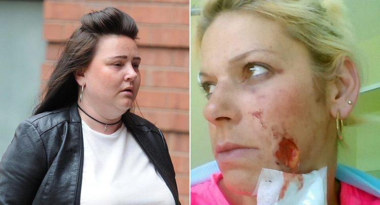 Hazel Gill, left, was found not guilty of wounding Danniella Farrow (Pictures: SWNS)