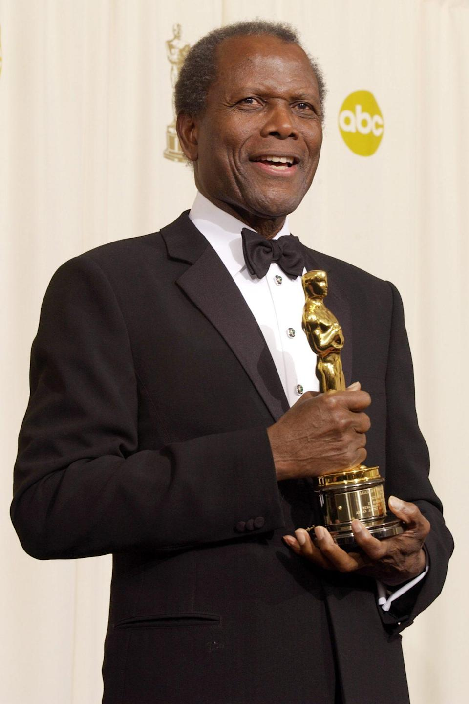 """<p>With his honorary Academy Award at the 2002 ceremony. He received a minutes-long standing ovation when walking to the mic, and in his moving acceptance speech, spoke of the whiteness of early Hollywood and how the """"unselfish"""" choices of a handful of filmmakers opened doors for him, allowing barriers to be broken for other Black actors and actresses. </p> <p>Poignantly that night, Denzel Washington and Halle Berry won the Best Actor and Best Actress awards; Berry was the first Black woman to ever win that honor.</p>"""
