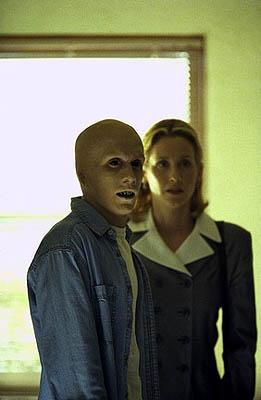"Guest star <a href=""/baselineperson/3662381"">Chad E. Donella</a> (L) plays a ""monster"" who commits murder to feed a gruesome habit, with Judith Hoag on the ""Hungry"" episode of Fox's The X-Files X-Files"