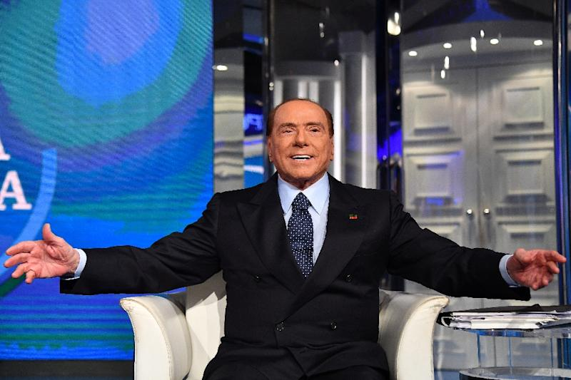 Billionaire Silvio Berlusconi is hoping to position himself as kingmaker in Italy's future government (AFP Photo/Alberto PIZZOLI)