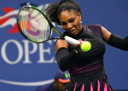 Aug 30, 2016; New York, NY, USA; Serena Williams of the USA hits to Kateryna Kozlova of Ukraine on day two of the 2016 U.S. Open tennis tournament at USTA Billie Jean King National Tennis Center. Mandatory Credit: Robert Deutsch-USA TODAY Sports / Reuters Picture Supplied by Action Images