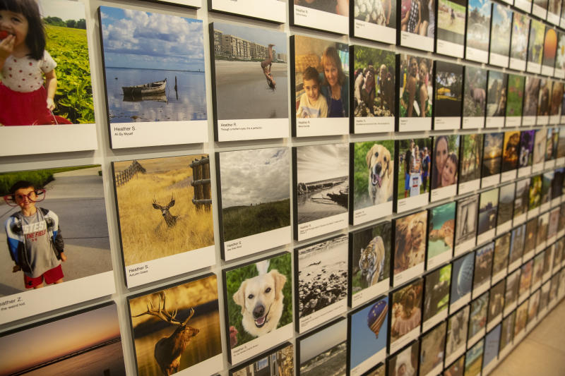 Photos taken by amateurs and professionals are on exhibit. (Photo: Gordon Donovan/Yahoo News)