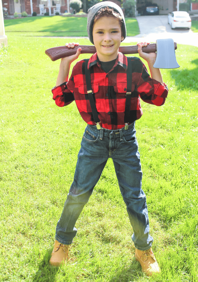 """<p>If you're looking for a last-minute costume idea, you've found it in this lumberjack outfit. The reason? You can easily find some of the pieces right in your child's closet!</p><p><strong>Get the tutorial at <a href=""""https://leggingsnlattes.com/kids-lumberjack-halloween-costume/"""" rel=""""nofollow noopener"""" target=""""_blank"""" data-ylk=""""slk:Leggings 'N' Lattes"""" class=""""link rapid-noclick-resp"""">Leggings 'N' Lattes</a>.</strong></p><p><strong><a class=""""link rapid-noclick-resp"""" href=""""https://www.amazon.com/Sleeves-Button-Plaid-Flannel-Shirt/dp/B076BTFX5Z/?tag=syn-yahoo-20&ascsubtag=%5Bartid%7C10050.g.21603260%5Bsrc%7Cyahoo-us"""" rel=""""nofollow noopener"""" target=""""_blank"""" data-ylk=""""slk:SHOP FLANNEL SHIRTS"""">SHOP FLANNEL SHIRTS</a></strong></p>"""