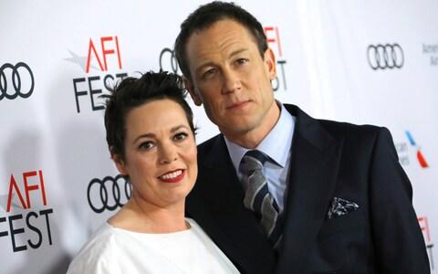 Olivia Colman and Tobias Menzies at the US premiere of The Crown - Credit: JC Olivera/Wire Image