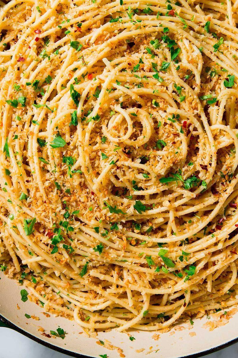 """<p>Anchovies are totally optional in this recipe. The <a href=""""https://www.delish.com/uk/cooking/recipes/a30255379/easy-garlic-bread-recipe/"""" rel=""""nofollow noopener"""" target=""""_blank"""" data-ylk=""""slk:garlic"""" class=""""link rapid-noclick-resp"""">garlic</a>, however, is not! </p><p>Get the <a href=""""https://www.delish.com/uk/cooking/recipes/a30265813/garlic-spaghetti-recipe/"""" rel=""""nofollow noopener"""" target=""""_blank"""" data-ylk=""""slk:Garlic Spaghetti"""" class=""""link rapid-noclick-resp"""">Garlic Spaghetti</a> recipe.</p>"""