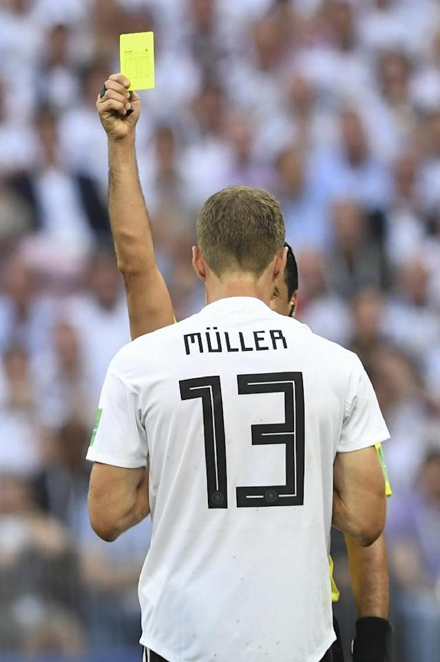 Germany will be looking to Thomas Mueller for goals against Sweden (AFP Photo/Francisco LEONG)