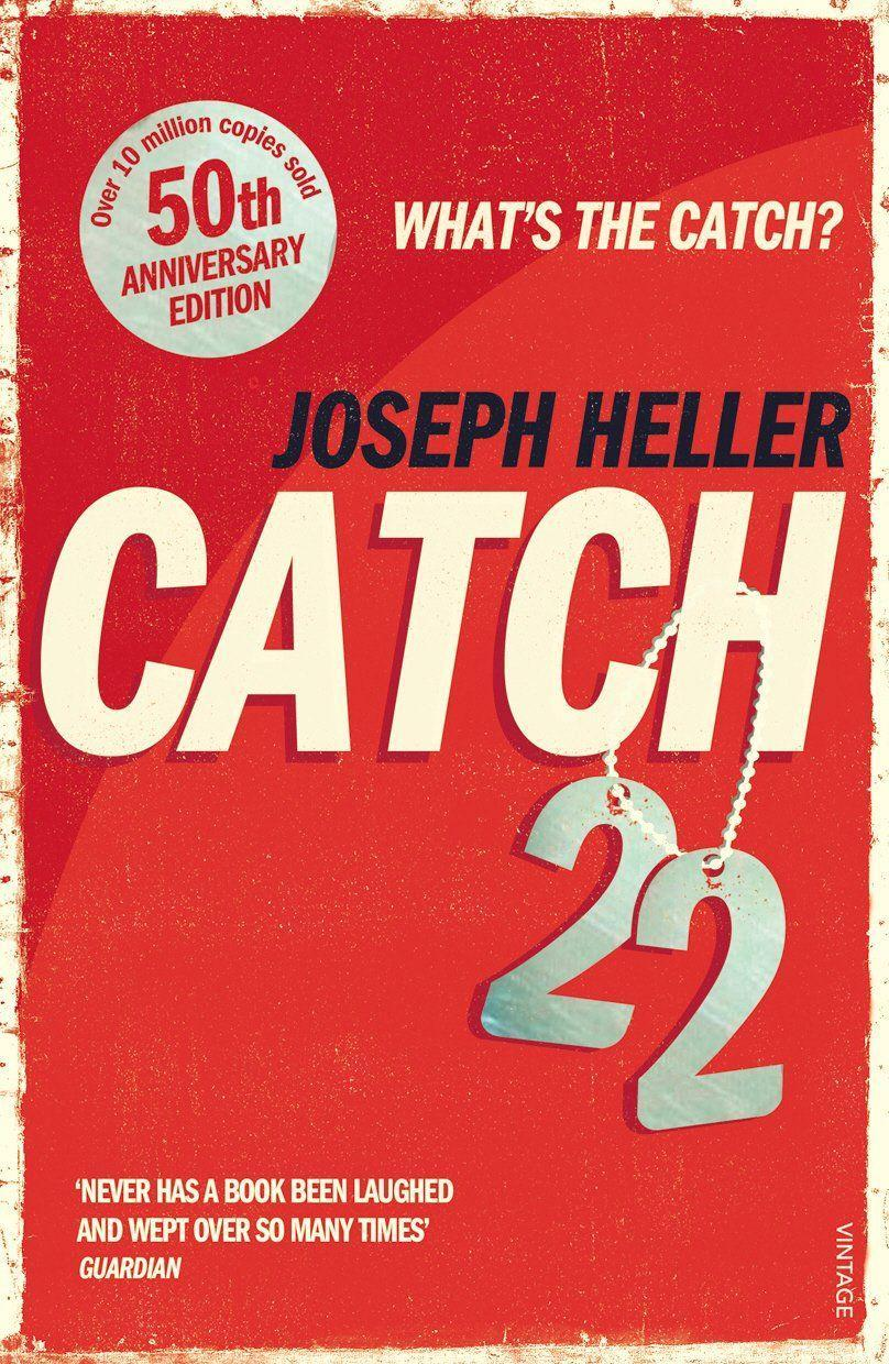 "<p>Joseph Heller's bestselling novel is a hilarious and tragic satire on military madness, and the tale of one man's efforts to survive it. You will finally understand the meaning of of a Catch 22.<br></p><p><a class=""link rapid-noclick-resp"" href=""https://www.amazon.co.uk/Catch-22-50th-Anniversary-Joseph-Heller/dp/0099529122/ref=sr_1_1?crid=FSMOXMZXU0EF&dchild=1&keywords=catch+22+book&qid=1586946917&sprefix=CATCH+22%2Caps%2C176&sr=8-1&tag=hearstuk-yahoo-21&ascsubtag=%5Bartid%7C1921.g.32141605%5Bsrc%7Cyahoo-uk"" rel=""nofollow noopener"" target=""_blank"" data-ylk=""slk:SHOP NOW"">SHOP NOW </a></p>"