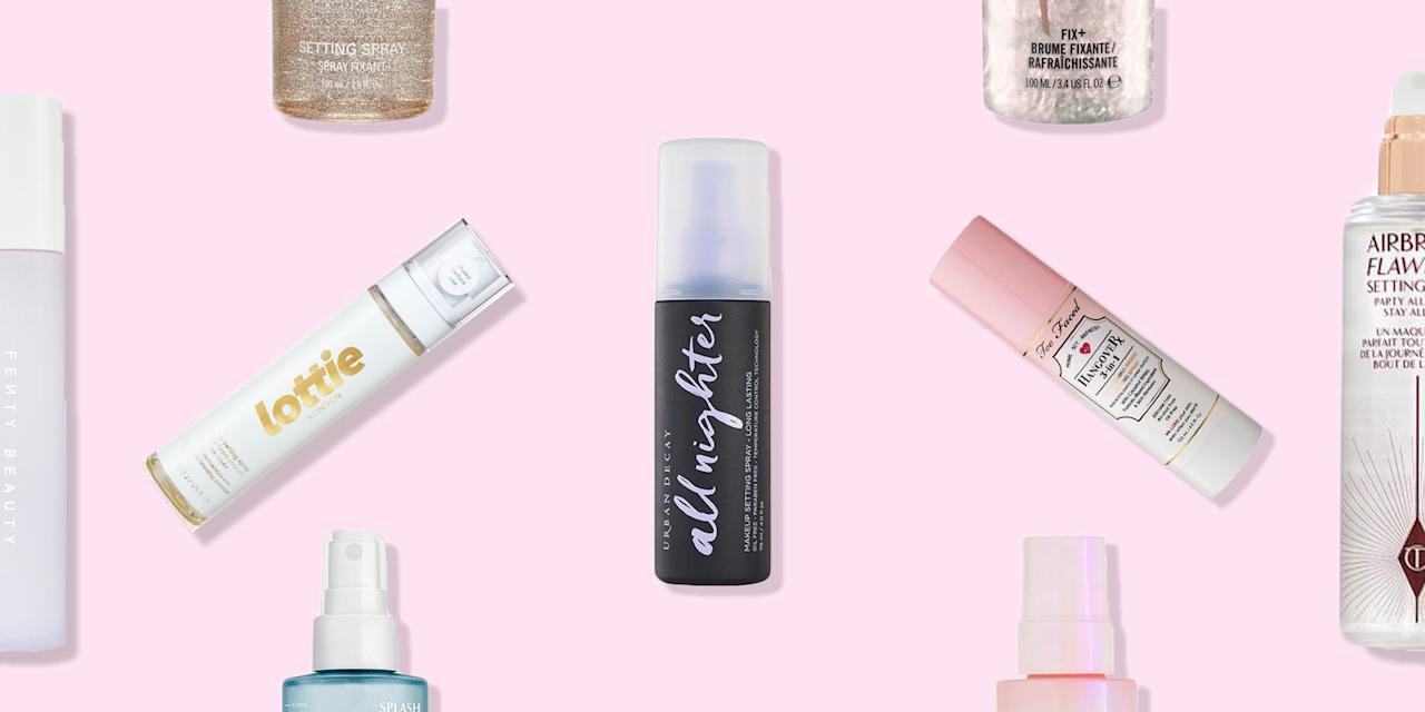 """<p>Setting sprays have come a very long way in the past few years, with the alcohol-laden spritzes of old being replaced by some formidable skin-kind formulas. </p><p>And they're not just for the <a href=""""https://www.elle.com/uk/beauty/skin/a37721/how-to-get-rid-oily-skin/"""" target=""""_blank"""">oily-skinned</a>, either (although if your <a href=""""https://www.elle.com/uk/beauty/make-up/g7851/elle-beauty-edit-full-coverage-foundations-for-winter/"""" target=""""_blank"""">foundation</a> slides off your face before lunchtime, they're an absolute no brainer). Now, there's a make-up setting spray to make dry skin look dewy, one to protect from pollution, and plenty that promise to dial up the radiance. </p><p>According to Danielle Roberts, Global Make-up Artist for <a href=""""https://go.redirectingat.com?id=127X1599956&url=https%3A%2F%2Fwww.urbandecay.co.uk%2F&sref=https%3A%2F%2Fwww.elle.com%2Fuk%2Fbeauty%2Fmake-up%2Fg31851%2Fbest-makeup-setting-sprays%2F"""" target=""""_blank"""">Urban Decay</a>, the key to setting-spray success is all in the application. 'Always apply the mist in a """"T"""" motion through the centre of the face and an """"X"""" to hit the outer perimeters,' she says.</p><p> And that's not all your setting spray is good for, either. 'Try spritzing your flat shadow brush with a little setting spray to pick up and lay down a more foiled effect with high-shimmer shadows,' she adds. Who knew!</p><p>Here, see the setting sprays you'll find in team ELLE's beauty bags... </p>"""