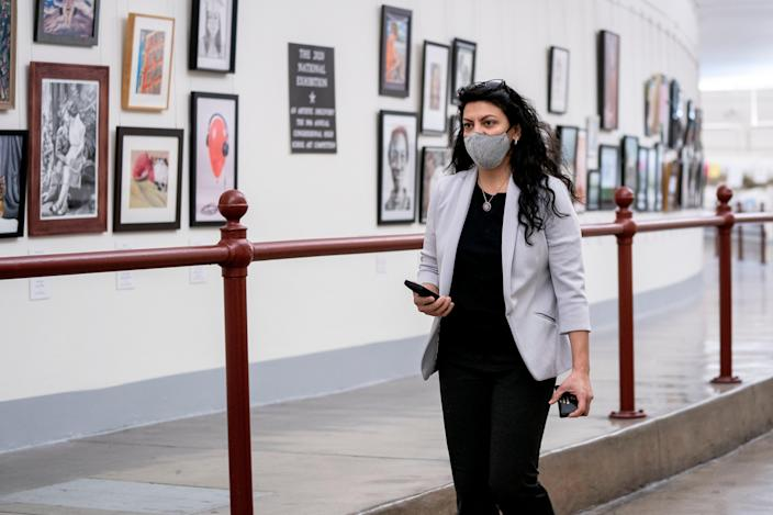 <p>Democratic Congresswoman Rashida Tlaib of Michigan is leading efforts to uncover the 'internal culture and unwillingness' in federal law enforcement to target violent white supremacists</p> (Getty)