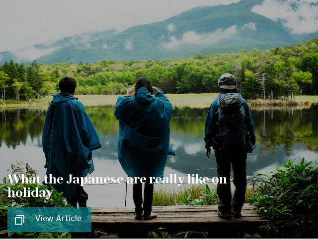 What the Japanese are really like on holiday