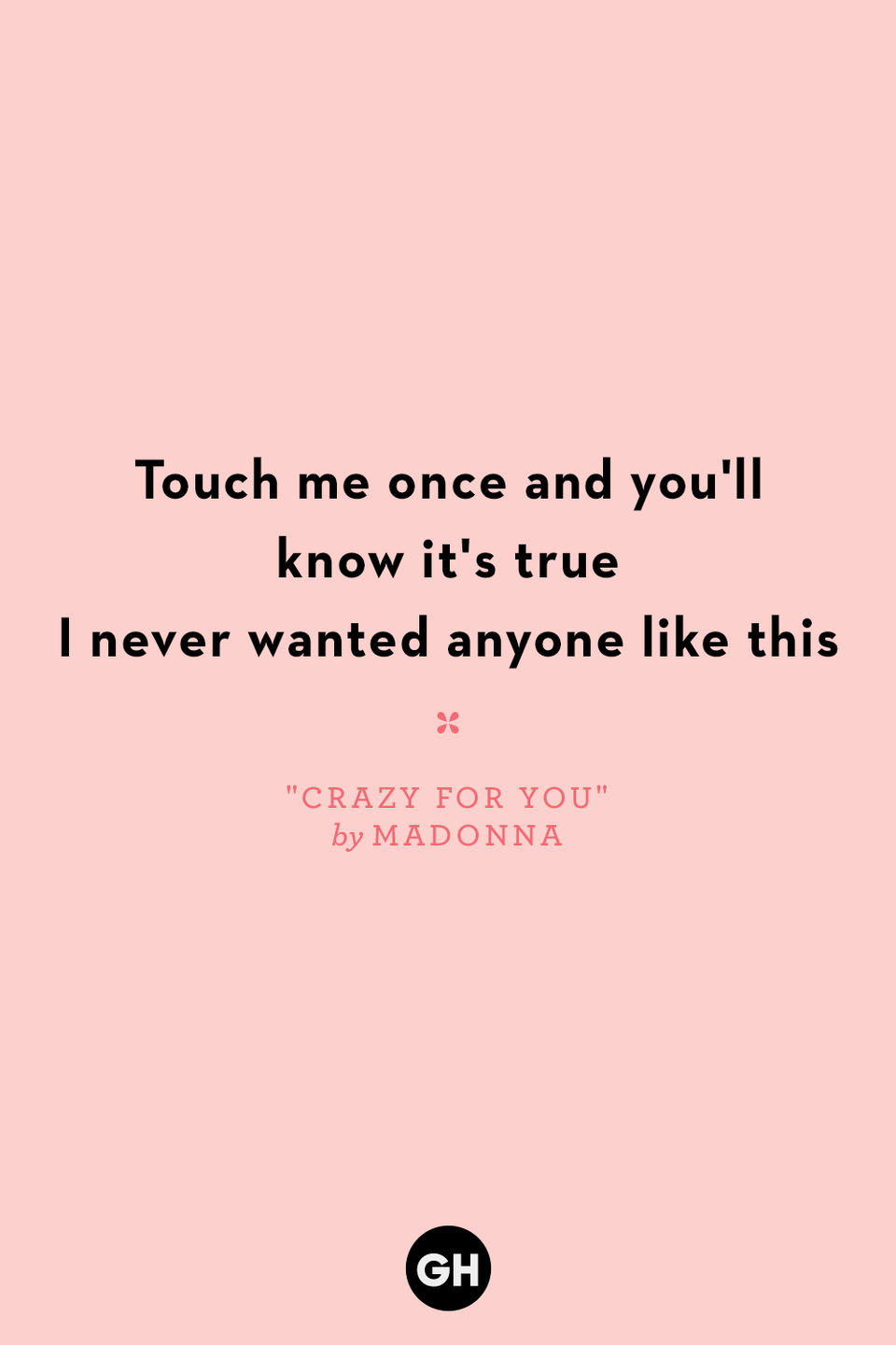 <p>Touch me once and you'll know it's true</p><p>I never wanted anyone like this</p>