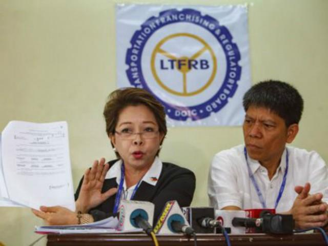 LTFRB Members Aileen Lizada and Martin Delgra