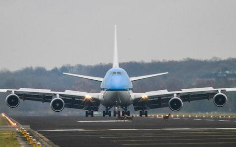 The KLM 747 arrives at Enschede