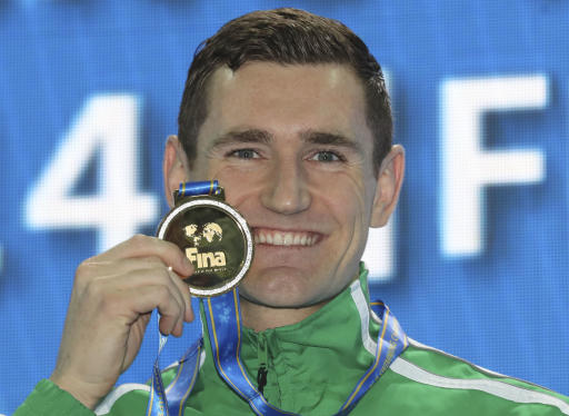 Former Olympic swimming champion van der Burgh has virus