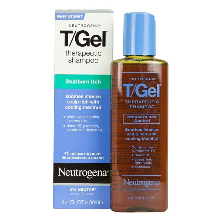 """<p>One of the most-trusted dandruff shampoos is the  <a href=""""https://www.popsugar.com/buy/Neutrogena%20T-Gel%20Shampoo-176728?p_name=Neutrogena%20T-Gel%20Shampoo&retailer=walgreens.com&price=7&evar1=bella%3Auk&evar9=46405985&evar98=https%3A%2F%2Fwww.popsugar.com%2Fbeauty%2Fphoto-gallery%2F46405985%2Fimage%2F46406000%2FNeutrogena-T-Gel-Shampoo&list1=hair%2Cneutrogena%2Cbeauty%20products%2Cshampoo%2Cdandruff&prop13=api&pdata=1"""" rel=""""nofollow"""" data-shoppable-link=""""1"""" target=""""_blank"""" class=""""ga-track"""" data-ga-category=""""Related"""" data-ga-label=""""https://www.walgreens.com/store/c/neutrogena-t-gel-therapeutic-shampoo/ID=prod353411-product"""" data-ga-action=""""In-Line Links"""">Neutrogena T-Gel Shampoo</a> ($7), which relieves flakes and itch using coal tar. <strong>[isn't coal-tar carcinogenic? you might want to be careful plugging this product if that is the case]</strong></p>"""