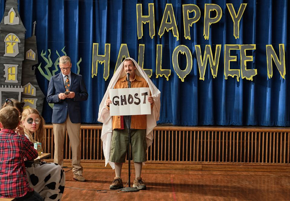 Adam Sandler in 'Hubie Halloween'. (Credit: Scott Yamano/Netflix)