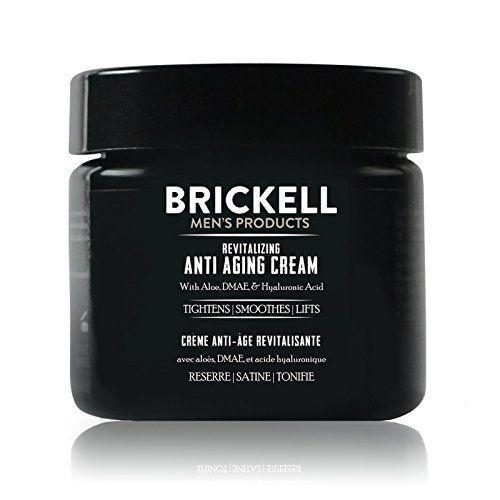 """<p><strong>Brickell Men's Products</strong></p><p>amazon.com</p><p><strong>$40.00</strong></p><p><a href=""""https://www.amazon.com/dp/B00O25NI7Q?tag=syn-yahoo-20&ascsubtag=%5Bartid%7C10063.g.35091097%5Bsrc%7Cyahoo-us"""" rel=""""nofollow noopener"""" target=""""_blank"""" data-ylk=""""slk:BUY IT HERE"""" class=""""link rapid-noclick-resp"""">BUY IT HERE</a></p><p>A great moisturizer is essential to any effective anti-aging skincare routine, whether you're focused on anti-aging or not. This cream is packed with skin hydrating ingredients like hyaluronic acid and soothing aloe for all-day (and night) hydration.</p>"""