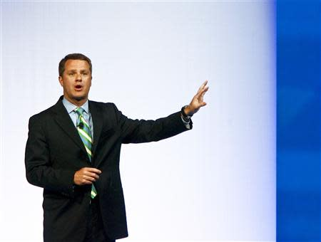 Doug McMillon, President and CEO, Wal-Mart Stores Inc. International, speaks to shareholders during Wal-Mart Stores Inc's annual general meeting in Fayetteville, Arkansas in this file photo from June 3, 2011. REUTERS/Sarah Conard/Files