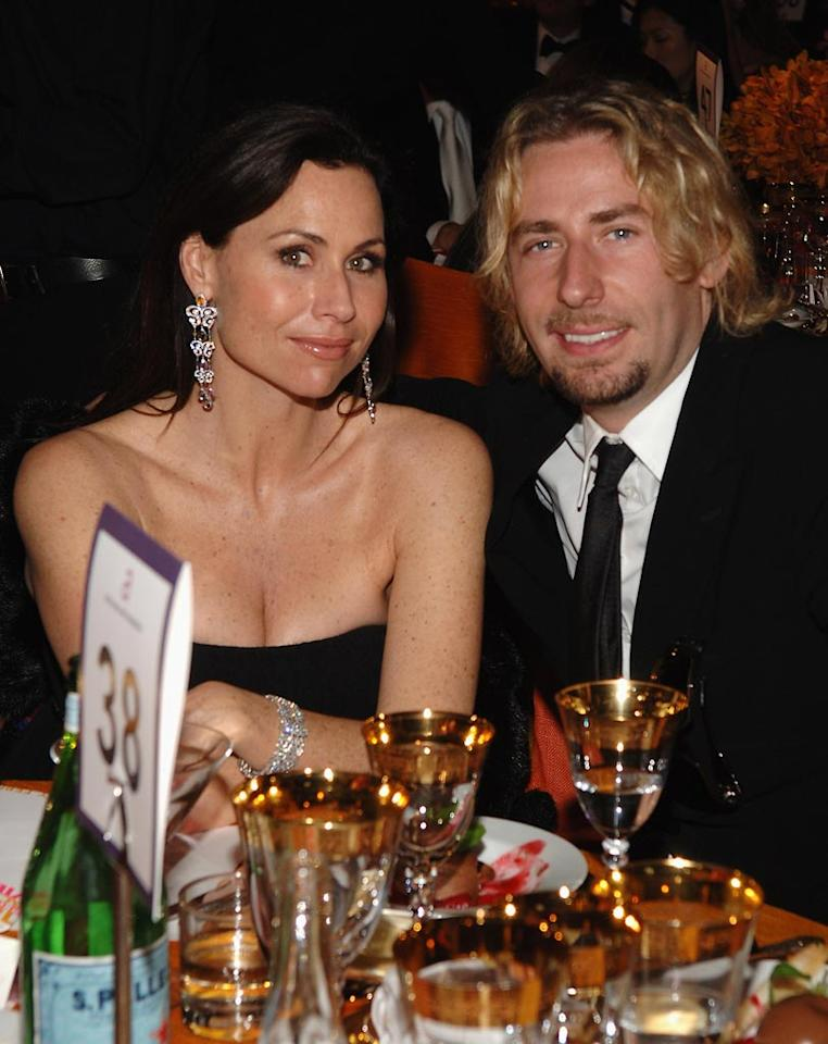 "<a href=""http://movies.yahoo.com/movie/contributor/1800020232"">Minnie Driver</a> and Nickelback frontman Chad Kroege at the 16th Annual Elton John AIDS Foundation Oscar Party at the Pacific Design Center in West Hollywood - 02/24/2008"