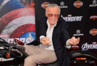 <p>One person whose presence was sorely missed at the <i>Avengers: Endgame</i> premiere was iconic Marvel creative Stan Lee who sadly died in 2018. (Getty Images) </p>