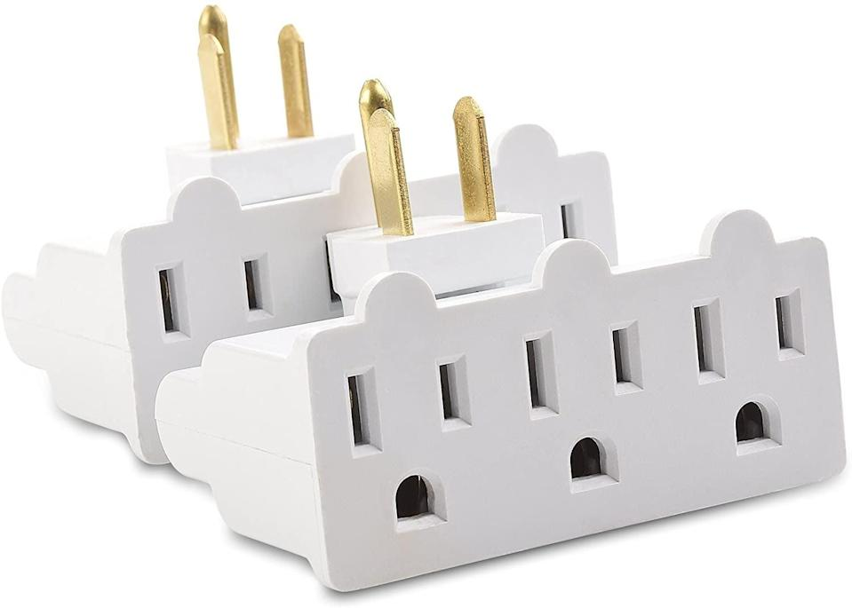 <p>The <span>Cable Matters 2-Pack 3-Outlet Grounded 180 Degree Swivel Wall Tap</span> ($10) are a life-saver and so affordable. No more awkard angles! </p>