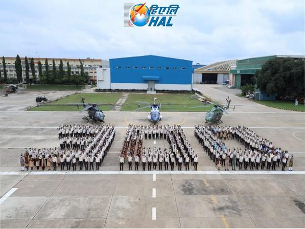 HAL celebrating 300th Advanced Light Helicopterb roll out