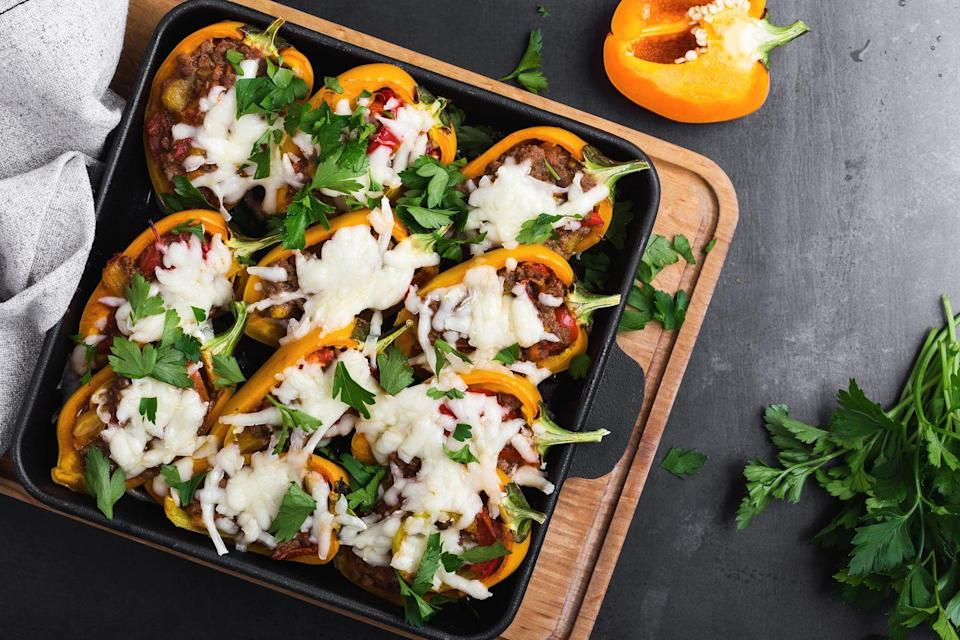 <p>Make your vegetables the star of a dish by stuffing them with something delicious. Stuffed peppers are a popular option, but you can also hollow out and stuff eggplants, zucchinis, mushrooms, squash, potatoes, and artichokes. </p>