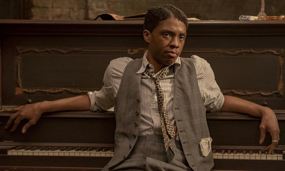 Chadwick Boseman in Ma Rainey's Black Bottom.