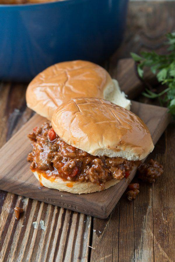 """<p>Sloppy joes are the easiest way to feed a crowd. Just make sure you put out plenty of napkins. </p><p><a href=""""http://www.ohsweetbasil.com/sloppy-joes-recipe.html"""" rel=""""nofollow noopener"""" target=""""_blank"""" data-ylk=""""slk:Get the recipe from Oh Sweet Basil »"""" class=""""link rapid-noclick-resp""""><em>Get the recipe from Oh Sweet Basil »</em></a><br></p>"""