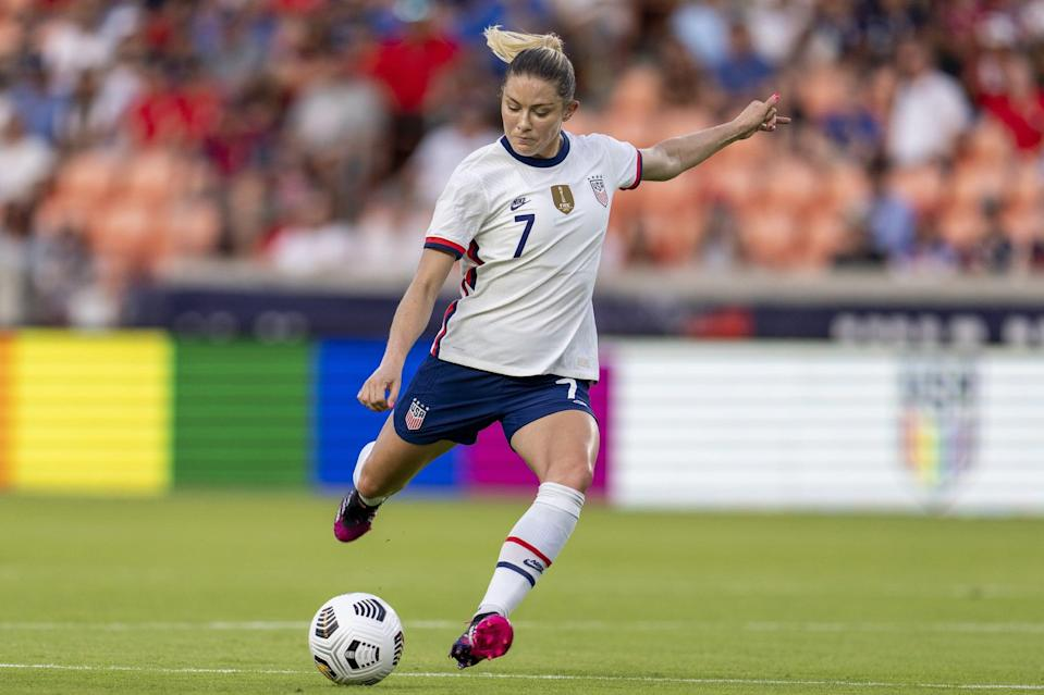 <p><strong>Position:</strong> defender</p> <p><strong>Hometown:</strong> Menlo Park, CA</p> <p><strong>Club:</strong> Manchester City (England)</p> <p>In her first four seasons in the NWSL, Dahlkemper won three championships. This will be her first Olympic appearance.</p>