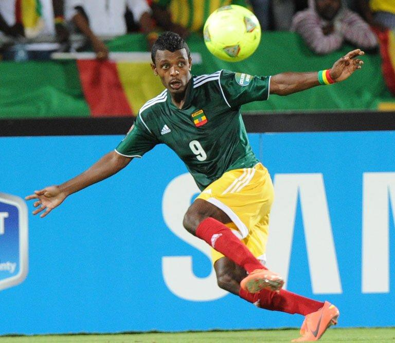 Ethiopia's forward Getaneh Kebede, pictured in action in Rustenburg on January 29, 2013
